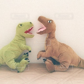 恐竜のぬいぐるみの写真・画像素材[3462671]