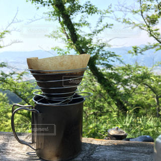 山でコーヒーの写真・画像素材[1504666]