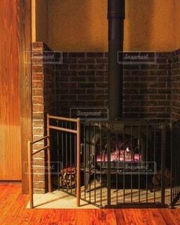 暖炉の写真・画像素材[3920765]