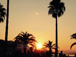 夕暮れのビーチの写真・画像素材[1523410]