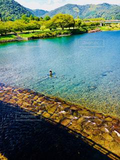 山口錦帯橋からの大自然を満喫の写真・画像素材[1527019]