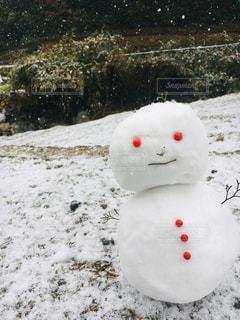 にっこり雪だるまの写真・画像素材[1708381]