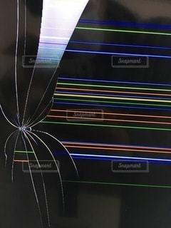 テレビ液晶割れの写真・画像素材[2288682]