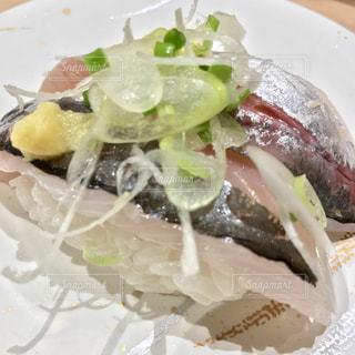真鯵のお寿司の写真・画像素材[1608221]