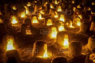 横手かまくら祭りのミニかまくらの写真・画像素材[1859581]