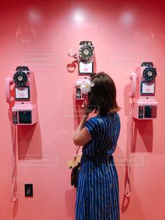 かわいい電話ボックスの写真・画像素材[1864487]