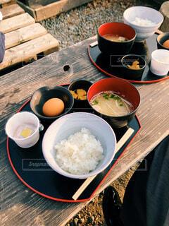 ほったらかし温泉での朝食の写真・画像素材[1993580]