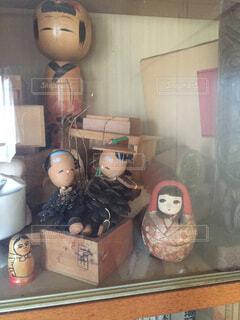 古いおみやげの人形たち。の写真・画像素材[1525111]