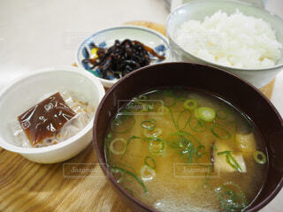 納豆定食の写真・画像素材[1641439]