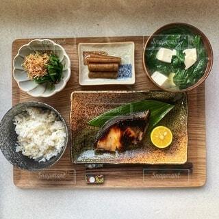 西京焼きの朝食の写真・画像素材[3963570]