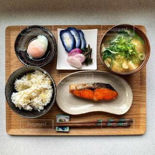 鮭定食の写真・画像素材[4341373]