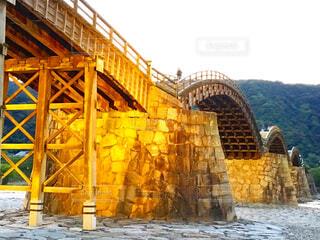 日本三大名橋 錦帯橋のライトアップの写真・画像素材[1513034]