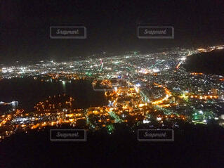 百万ドルの函館の夜景の写真・画像素材[1513040]