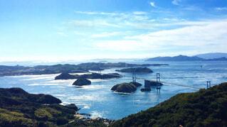 亀老山展望台から望むしまなみ海道の写真・画像素材[1528618]