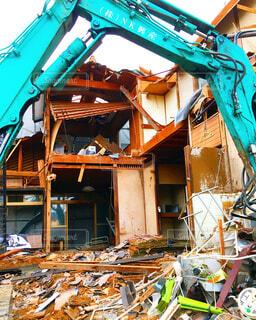 家屋の取り壊しの写真・画像素材[1549323]