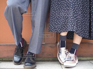 お揃いの靴下の写真・画像素材[1592324]