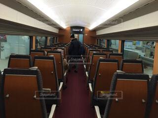 ロマンスカー 車内 電車の写真・画像素材[1513773]