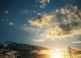 夕暮れの空の写真・画像素材[1595726]