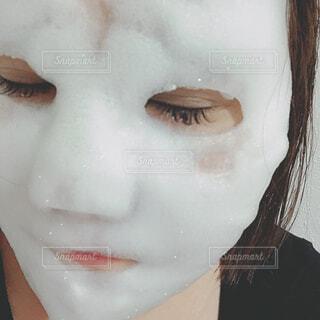 ホワイトバブルマスクの写真・画像素材[1515961]