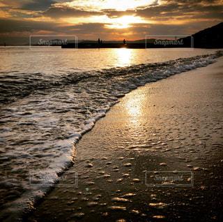 砂浜にての写真・画像素材[1703206]