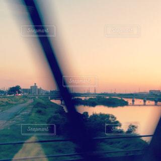 とある日の夕景の写真・画像素材[2162246]