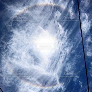 空の雲のクローズアップの写真・画像素材[2220447]