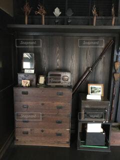 部屋でのディスプレイの写真・画像素材[1528981]