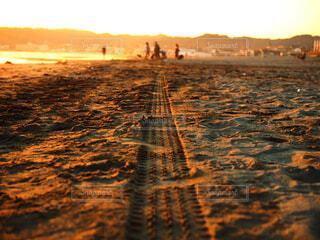 夕焼けのビーチの写真・画像素材[1520950]