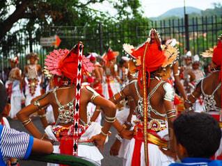 スリランカのお祭り(ペラヘラ祭り)の写真・画像素材[1521010]