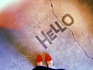 覆われている落書きの床の写真・画像素材[1521232]