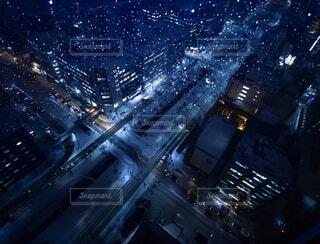 夜の街の景色の写真・画像素材[1805413]