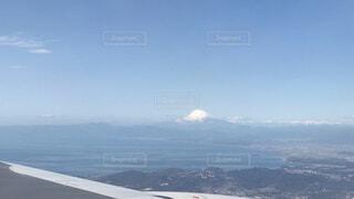 空から見る富士山の写真・画像素材[1528756]