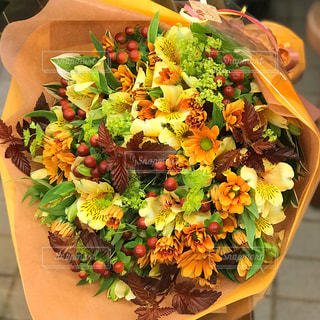 秋色の花束の写真・画像素材[1541943]