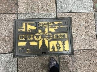 神戸のマンホールの写真・画像素材[1578083]