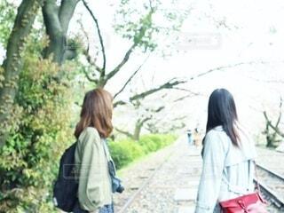 通りを歩いている人の写真・画像素材[3400384]
