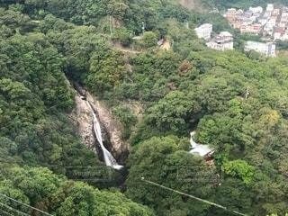 ロープウェイからみた布引の滝の写真・画像素材[3522860]