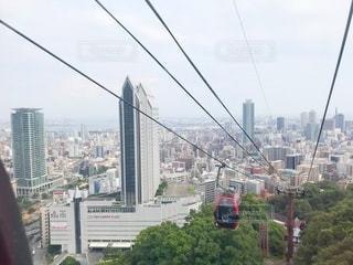 背景に都市がある橋の写真・画像素材[3522863]