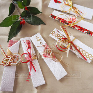 お正月の箸袋コレクションの写真・画像素材[1644201]