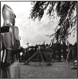 公園のウルトラマンの写真・画像素材[1590999]