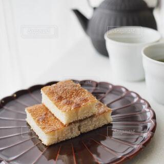 和菓子でお茶の時間の写真・画像素材[1875866]