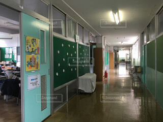 小学校の廊下の写真・画像素材[1528436]