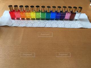 カラーセラピーのボトルの写真・画像素材[1534482]
