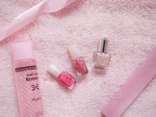 ピンクの毛布の写真・画像素材[1675021]