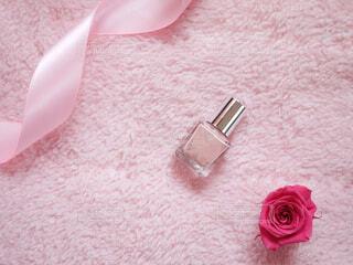 ピンクの毛布の写真・画像素材[1680208]
