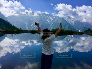 山と私の写真・画像素材[1530057]