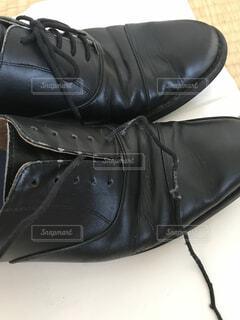 革靴、皺ありの写真・画像素材[1530216]