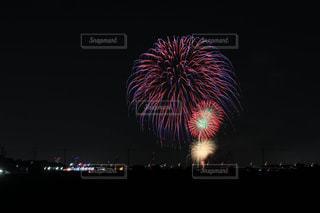夜空の花火の写真・画像素材[1535950]