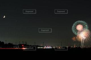 夜空の花火の写真・画像素材[1535952]