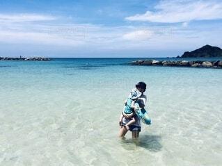 笹子ビーチにての写真・画像素材[4032209]