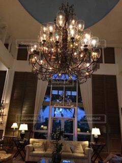ホテルのロビーにての写真・画像素材[4032289]